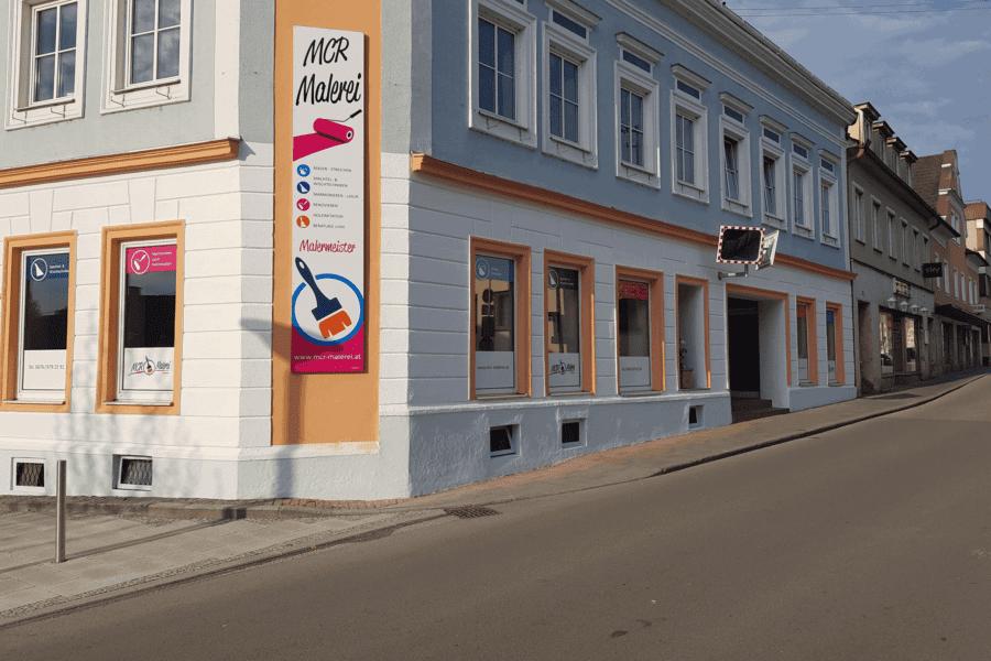 Neue Fassade am Geschäftslokal